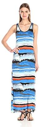 Kensie Women's Watercolor Maxi Dress