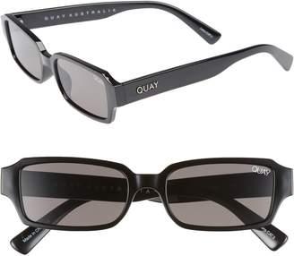 Quay Strange Love 53mm Rectangle Sunglasses