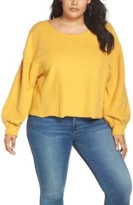 BP Fleece Blouson Sleeve Top
