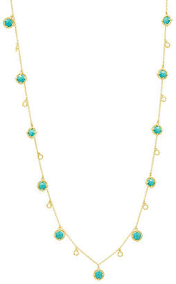Freida Rothman Color Theory Stone Droplet Necklace with Turquoise