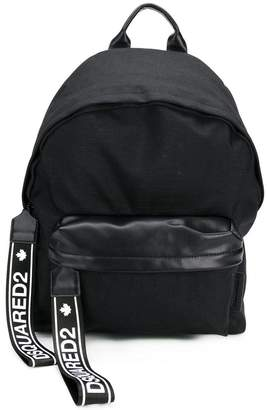 DSQUARED2 branded zip tab backpack