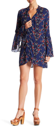 En Creme Split Neck Bell Sleeve Dress $60 thestylecure.com