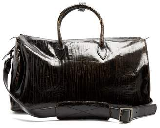 d7805112fe86b Marc Marmel Roberta Doctor s Cracked Leather Holdall - Mens - Black