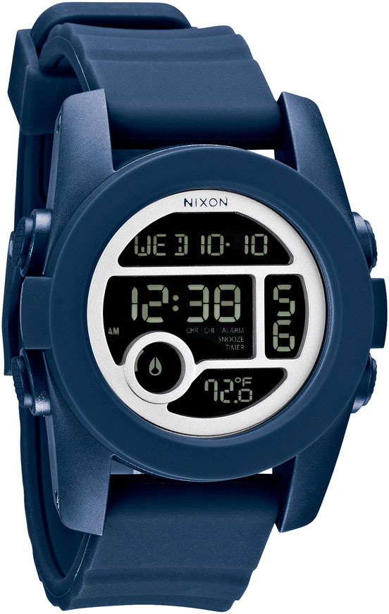 Nixon 'The Unit 40' Round Digital Watch