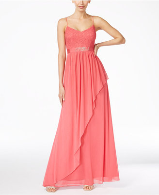 Adrianna Papell Spaghetti-Strap Lace Gown $179 thestylecure.com