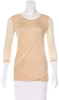 Anne Valerie Hash Semi-Sheer Long Sleeve Top w/ Tags