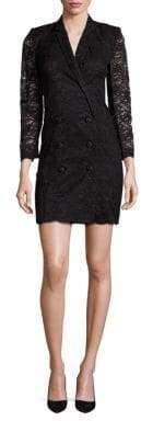 The Kooples Lace Double-Breasted Dress