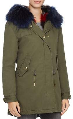 SAGE Collective Faux Fur Trim Anorak - 100% Exclusive