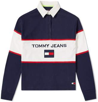 Tommy Jeans 5.0 Women's 90s Blocked Rugby Shirt