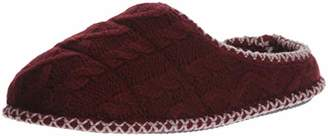 Dearfoams Women's Quilted Cable Knit Clog Slipper