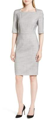 BOSS Dipiseta Mini Glencheck Sheath Dress