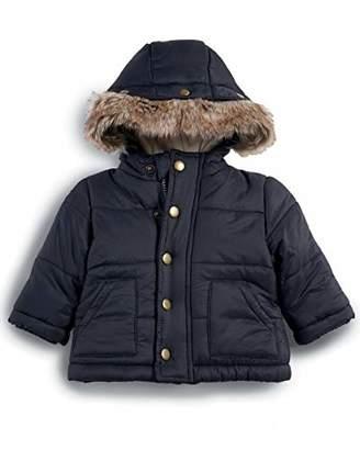 Mamas and Papas Baby Boys' Faux Fur Trim Coat, Blue
