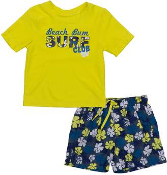 "Trunks Baby Boy Kiko & Max ""Beach Bum"" Rash Guard Top & Swim Set"