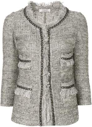 Charlott frayed edges tweed jacket