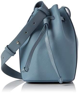 French Connection Saffiano Chelsea Mini Bucket, Women's Shoulder Bag, Mehrfarbig (Arona Blu/shny Silvr), 11x14x21 cm (B x H T)