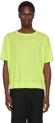 Robert Geller Green Seamed Lightweight T-Shirt