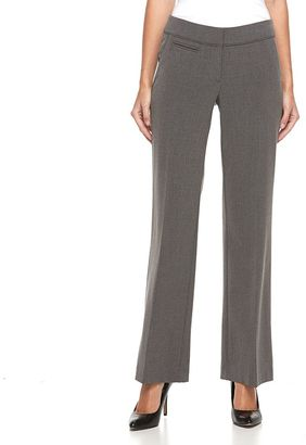 Women's Apt. 9® Piped Straight-Leg Dress Pants $48 thestylecure.com