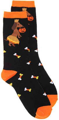 K. Bell Trick or Treat Dog Crew Socks - Women's