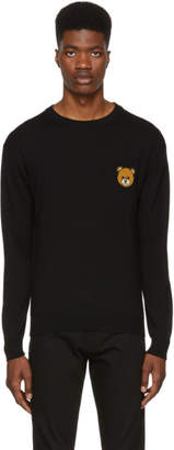 Moschino Black Small Teddy Bear Crewneck Sweater