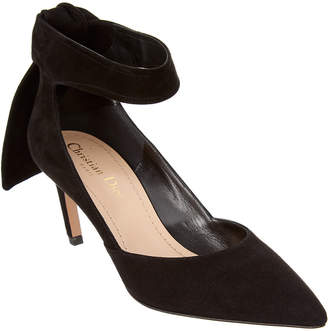 Christian Dior La Belle D Ankle Wrap Suede Pump