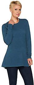 Isaac Mizrahi Live! 2-Ply Cashmere Peplum TunicSweater