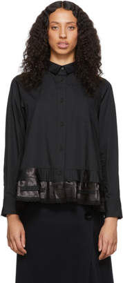 Sacai Black Poplin Shirt