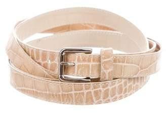 Dolce & Gabbana Embossed Leather Wrap Belt