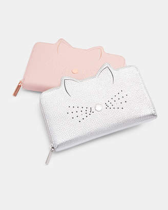 b4dea577acb75b ... Ted Baker SERINI Cat whiskers leather matinee purse