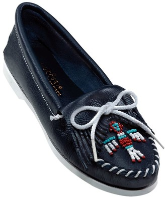 Minnetonka Smooth Leather Moccasins - Thunder bird Boat Moc