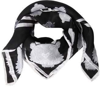 Kenzo Tiger Print Cotton & Silk Square Scarf
