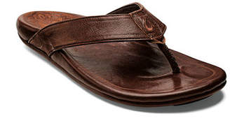 OluKai Kulia Leather Thong Sandals