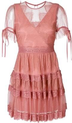Three floor lace tiered dress