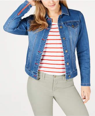 Charter Club Frisco Zip-Cuff Denim Jacket