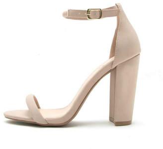 Qupid Cashmere Block Heels