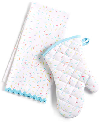 Martha Stewart Collection Oven Mitt & Towel, Created for Macy's