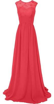 CaliaDress Women Sleeveless See-through Long Prom Gown Bridesmaid Dress C289LF US