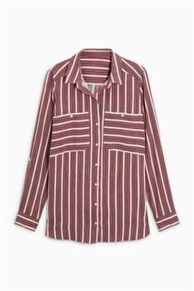 Next Womens Ochre Stripe Shirt