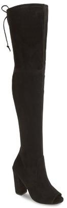 Women's Steve Madden Elliana Over The Knee Open Toe Boot $139.95 thestylecure.com