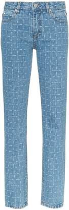 1017 ALYX 9SM logo print straight leg jeans