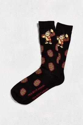 Urban Outfitters Donkey Kong Barrels Sock
