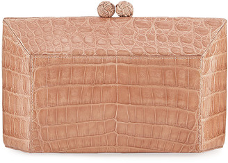 Nancy Gonzalez Gramercy Faceted Crocodile Minaudiere Clutch Bag