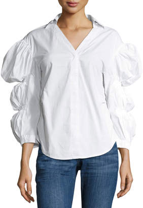 STYLEKEEPERS Fantasy League Billowy-Sleeve Blouse