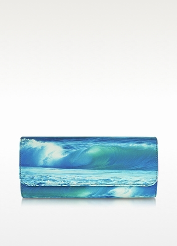 Juicy Couture Wave Print Clutch Handbag