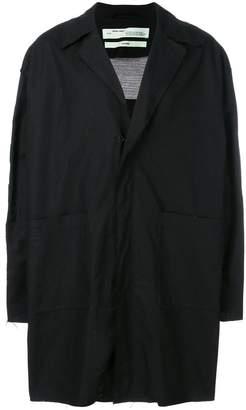 Off-White checker logo coat