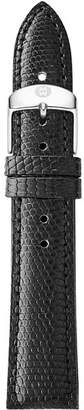 Michele Black Lizard Strap, 16mm