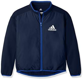 adidas (アディダス) - (アディダス)adidas トレーニングウェア ESS ライトパデット ハイブリッド ジャケット DUW04 [ボーイズ] DUW04 CG2179 カレッジネイビー/ホワイト J120