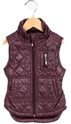Imoga Girls' Quilted Mock Neck Vest w/ Tags
