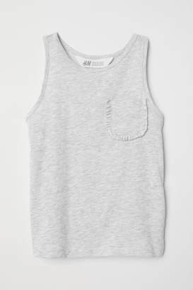 H&M Tank Top with Chest Pocket - Gray