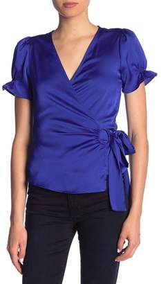 Ro & De Short Sleeve Wrap Blouse