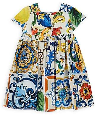 Dolce & Gabbana Infants' Majolica-Tile-Print Cotton Dress & Bloomers Set